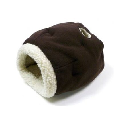 Precision Pet Products Cat Cave Cat Bed in Chocolate/Sheepskin
