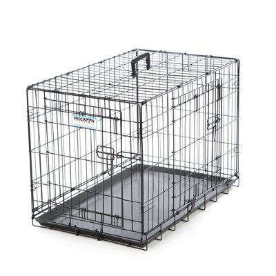 ProValu Two-Door Dog Crate in Black