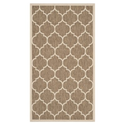 Safavieh Courtyard Brown / Bone Outdoor Rug