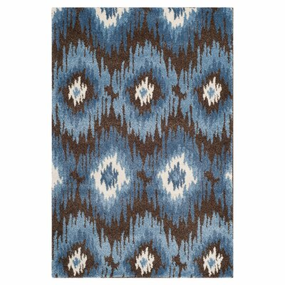 <strong>Safavieh</strong> Retro Dark Brown / Blue Rug