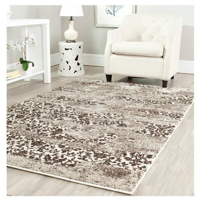 Safavieh Retro Beige/Light Grey Rug