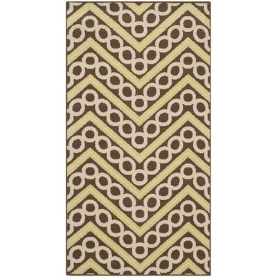 Safavieh Hampton Brown / Ivory Outdoor Rug