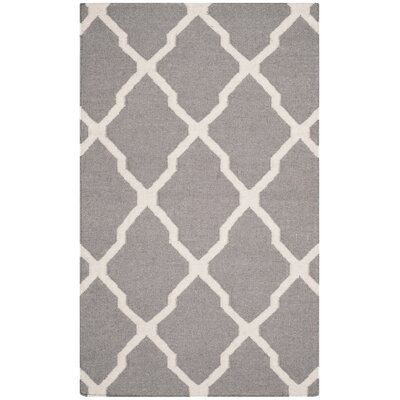 Safavieh Dhurries Dark Grey/Ivory Rug