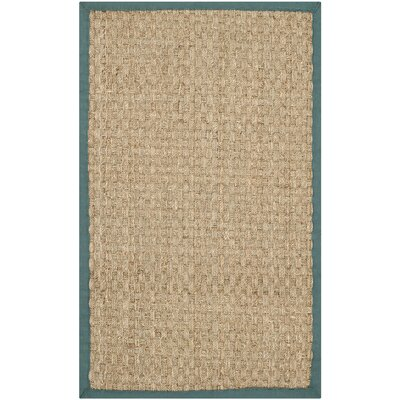 Safavieh Natural Fiber Natural / Light Blue Rug