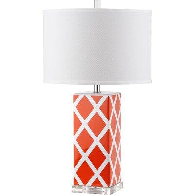 "Safavieh Garden Lattice 27"" H Table Lamp with Drum Shade"