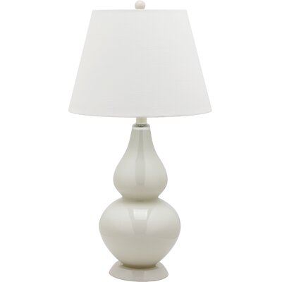"Safavieh Cybil Double Gourd 26.5"" H Table Lamp with Empire Shade"