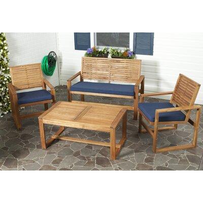 Safavieh Ozark 4 Piece Lounge Seating Group