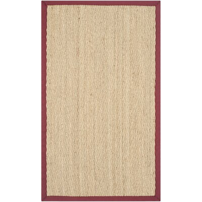 Safavieh Natural Fiber Natural/Light Red Rug