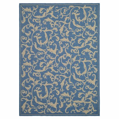 Safavieh Courtyard Blue/Natural Persian Outdoor Rug