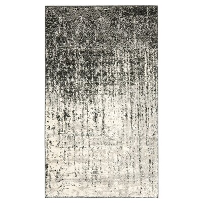 Safavieh Retro Black/Light Grey Rug