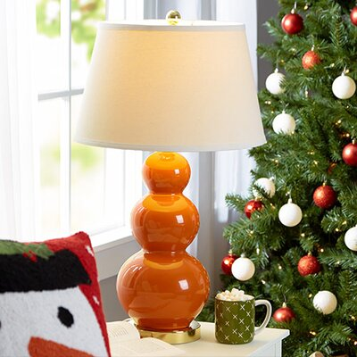 """Safavieh Pamela Triple Gourd 30"""" H Table Lamp with Empire Shade"""