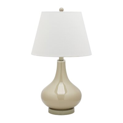 "Safavieh Amy Gourd 24"" H Table Lamp with Empire Shade"