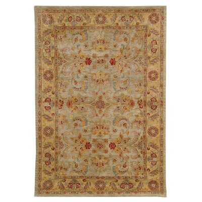 Classic Light Green/Gold Kerman Rug