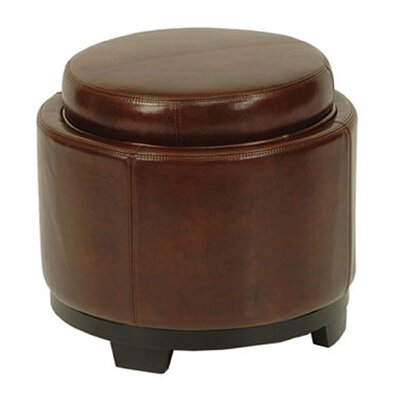 Safavieh Cocktail Leather Ottoman