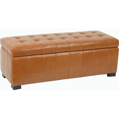 Safavieh Manhattan Leather Entryway Storage Ottoman