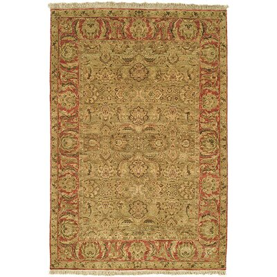 Old World Light Green/Rust Agra Rug