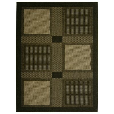Safavieh Courtyard Black/Sand Rug