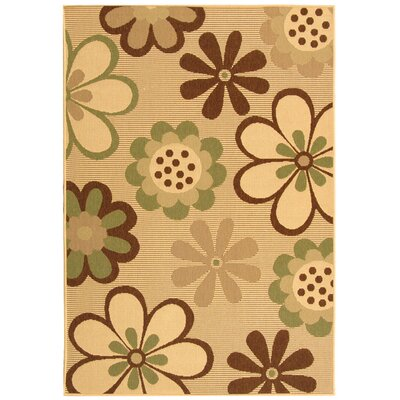 Safavieh Courtyard Natural Brown/Olive Rug