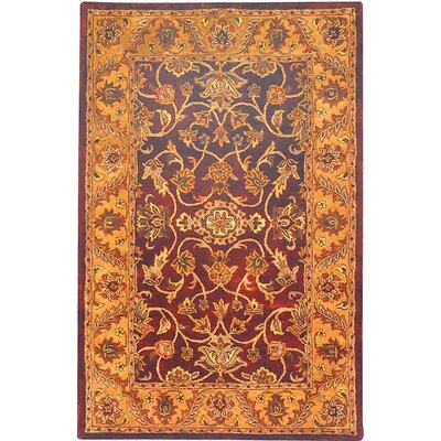 Golden Jaipur Burgundy/Gold Rug