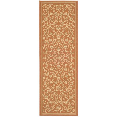 Safavieh Courtyard Terracotta/Natural Persian Rug