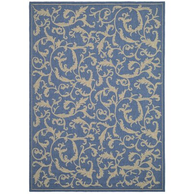 Safavieh Courtyard Blue/Natural Persian Rug
