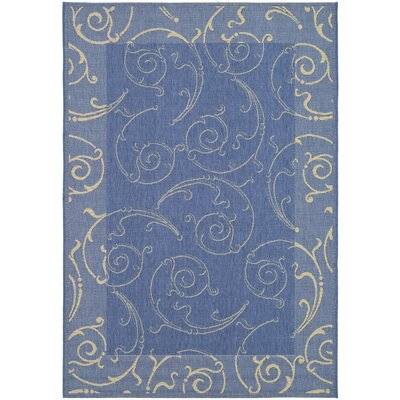 Safavieh Courtyard Blue/Natural Outdoor Rug