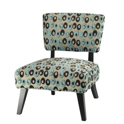 Christine Fabric Slipper Chair (Set of 2)