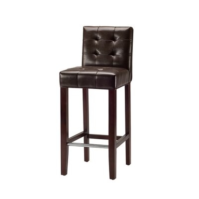 Safavieh Thompson Leather Barstool in Brown