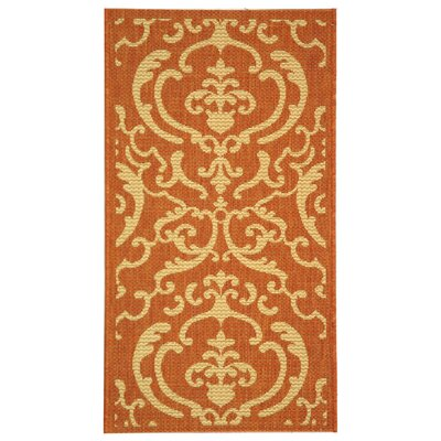 Safavieh Courtyard Terracotta / Natural Rug
