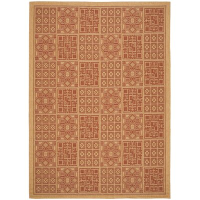 Safavieh Courtyard Dark Brick Rug
