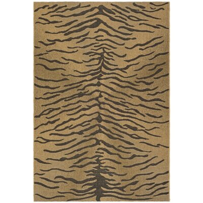 Safavieh Courtyard Dark Brown/Natural Rug