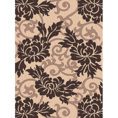 Safavieh Courtyard Crème/Black Outdoor Rug