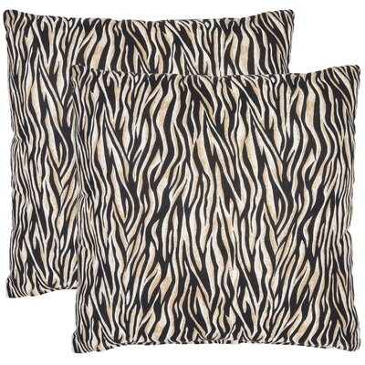 Drake Zebra Cotton Decorative Pillow (Set of 2)
