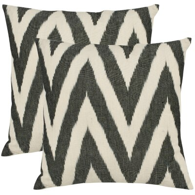 Safavieh Helena Decorative Pillows in Charcoal Grey (Set of 2)