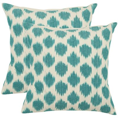 Safavieh Jillian Decorative Pillows in Aqua Blue (Set of 2)