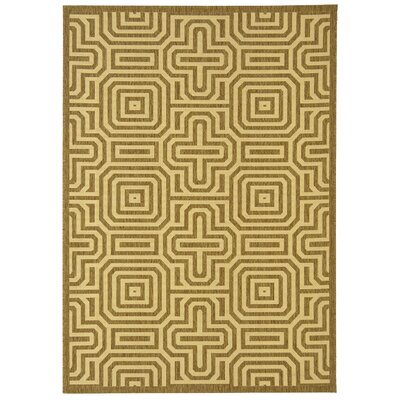 Safavieh Courtyard Brown/Natural Geometric Rug