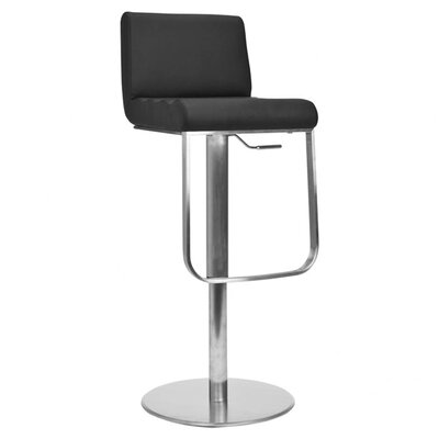 Liam Leather Barstool in Black