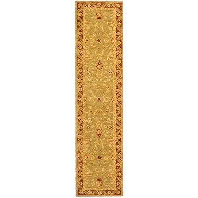 Anatolia Light Green / Red Rug
