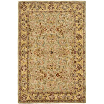 Safavieh Classic Light Green / Gold Rug