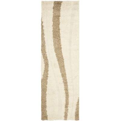 Safavieh Florida Shag Crème/Dark Brown Rug