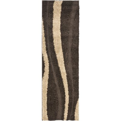 Safavieh Florida Shag Dark Brown/Beige Rug