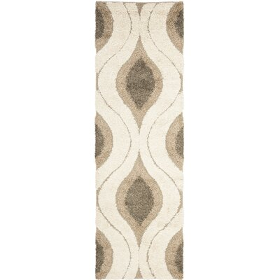 Safavieh Florida Shag Cream/Smoke Rug
