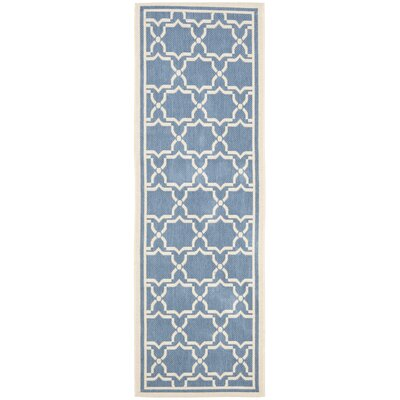 Safavieh Courtyard Blue / Beige Rug