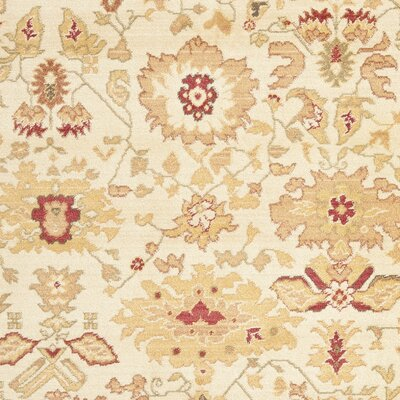 Heirloom Creme/Red Rug