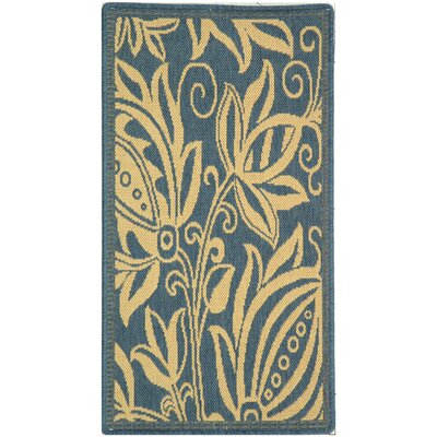 Safavieh Courtyard Blue/Natural Rug