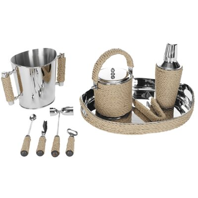 Safavieh Brass / Rope Bartender Set