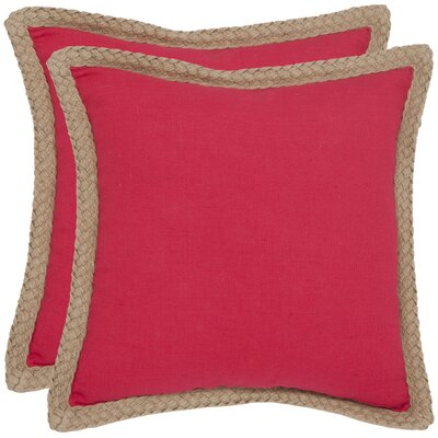 Safavieh Sweet Sorona Jute Fiber Decorative Pillow (Set of 2)