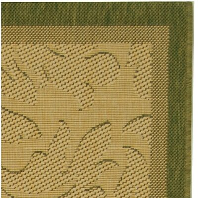 Safavieh Courtyard Neutral Floral Border Rug