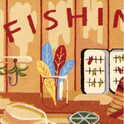 Safavieh Chelsea Gone Fishing Novelty Rug