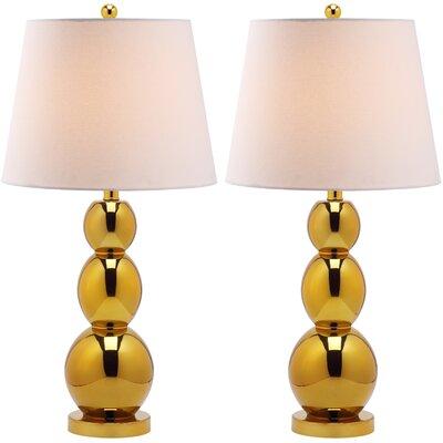 "Safavieh Jayne Three Sphere 26.5"" H Table Lamp with Drum Shade"